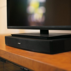 Bose Solo 15 TV Sound System under TV