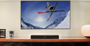 Bose Solo15 on unit below TV