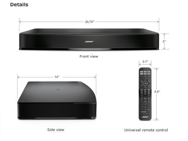 Dimensions of Bose Solo 15
